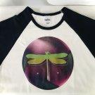 Neon Glow Dragonfly Ladies Cap Sleeve T-Shirt