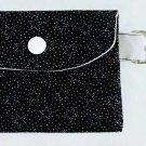Mini Card Wallet Key Fob Fabric Pouch Sprinkle Stars pattern