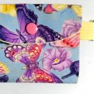 Mini Card Wallet Key Fob Fabric Pouch Butterfly Collage pattern