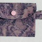 Mini Card Wallet Key Fob Fabric Pouch Purple tie dye pattern