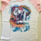 Mother and Baby Unicorn Fantasy Art Ladies Cap Sleeve T-Shirt