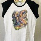 Woodland Forest Child Fairy Ladies Cap Sleeve T-Shirt