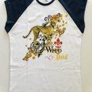 Wild Cheetah Spirit Animal Ladies Cap Sleeve T-Shirt