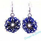 Celtic Star Blue and Silver Earrings