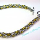 Byzantine Silver and Canary Yellow