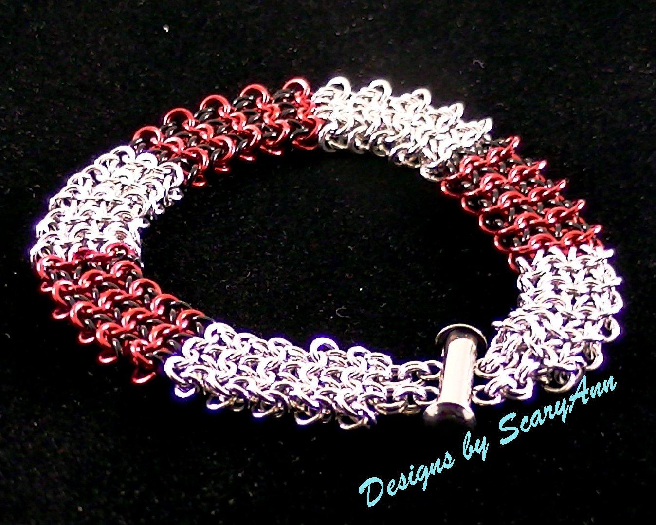 Coyote Micro Bracelet Red/Black/Silver [Item# 51]