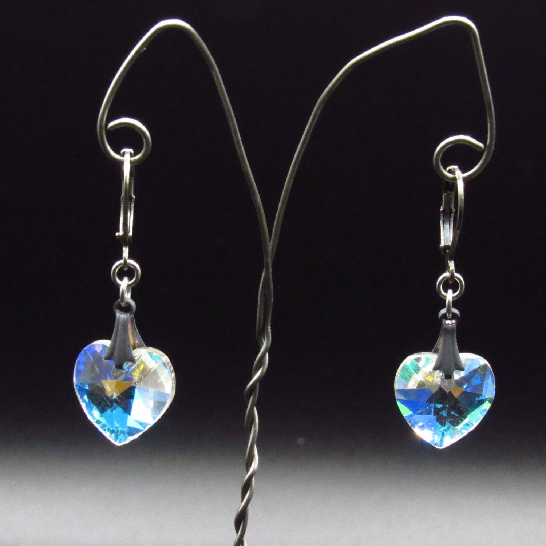 Crystal Heart Earrings [Item# 53]