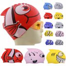 Child/kids Swimming Cap Waterproof Fish Shark Pattern Cartoon Water Sports