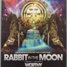 Poster - Rabbit in the Moon with Worthy and Mental 69  11X17