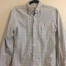 J. CREW - Men's White Yellow button down Plaid shirt  Extra Small 13-13 1/2. Q