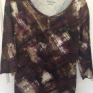 Relativity Woman Small Blouse Shirt Top Brown A