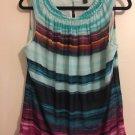 Worthington Women's Multi-Color Sleeveless Top    Size Large    E