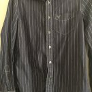 Men's Navy Blue White Striped American Eagle Outfitters Vintage Fit Shirt S/P  N