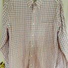 Eddie Bauer Men Long Sleeve Button Down Shirt Large Plaid C5