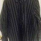 Perry Ellis Men Shirt X-Large Long Sleeve Cotton Casual Button down Striped C43