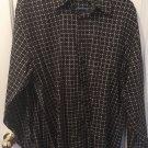 Bachrach Men's Button Up Long Sleeve Medium Shirt Z13