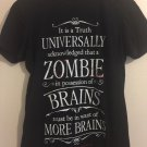 PRIDE AND PREJUDICE AND ZOMBIES - UNIVERSAL TRUTH - Small BLACK T-SHIRT. E