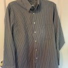 Geoffrey Beene Long Sleeve Striped Dress Shirt  15 1/2 & 32/33 Wrinkle free Z2