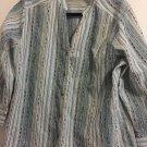 Alfred Dunner Woman 3/4 Sleeve Button Down Shirt Medium.  E