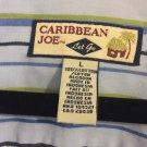 Caribbean Joe Men's Striped  Button Up Long Sleeve Shirt Size Large. Q