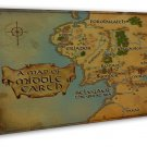 Map Of Middle Earth Lord Of The Rings Wall Decor 20x16 FRAMED CANVAS Print