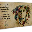 Bob Marley Quote Free Our Nind Image 20x16 Framed Canvas Print