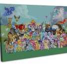 My Little Pony Characters Image 16x12 Framed Canvas Print