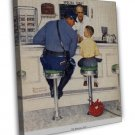 Norman Rockwell The Runaway Fine Art 20x16 Framed Canvas Print