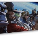 Overwatch Heroes Game Art 20x16 Framed Canvas Print