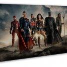 Justice League Superheroes Movie Batman Super Man 20x16 FRAMED CANVAS Print