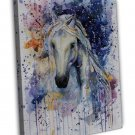 Horse Watercolour Art Image 16x12 Framed Canvas Print