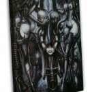 Witches Dance Hr Giger Li 2 Art 20x16 Framed Canvas Print