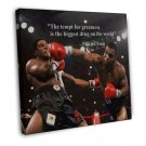 Mike Tyson Boxing Champion Motivational Quotes 20x16 FRAMED CANVAS Print