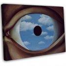 Rene Magritte The False Mirror Fine Art 20x16 Framed Canvas Print