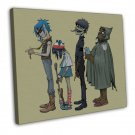 Gorillaz Music Band Group Art 20x16 Framed Canvas Print Decor