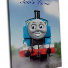 Thomas The Tank Engine Personalised Door Sign Image 16x12 Framed Canvas Print