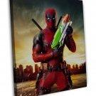 Deadpool Super Squirter Art Image 20x16 Framed Canvas Print