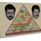 Parks And Recreation Swanson Pyramid Of Greatness 16x12 FRAMED CANVAS Print