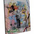 Albert Einstein Love Is The Answer Banksy Mr Brain Image 16x12 Framed Canvas P