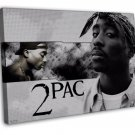 Tupac Shakur 2Pac Hip Hop Star Art 16x12 Framed Canvas Print Decor