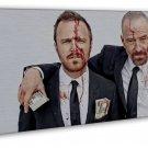 Breaking Bad 1 2 3 4 Tv Art 16x12 Framed Canvas Print Decor