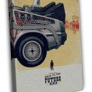 Back To The Future Part 3 Classic Movie Pictures 20x16 FRAMED CANVAS Print
