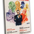 Everybody Against James Bond 1972 Vintage Movie FRAMED CANVAS Print