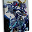 Digimon Adventure Tri Anime Gabumon 16x12 FRAMED CANVAS Print