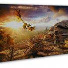 Game Of Thrones Tv Wall Decor 20x16 Framed Canvas Print