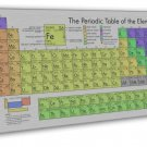 Periodic Table Of The Elements Art 16x12 FRAMED CANVAS Print Decor