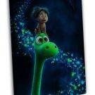 The Good Dinosaur Cartoon Film 20x16 Framed Canvas Print