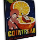 Vintage French Cointreau Liqueur 20x16 Framed Canvas Print