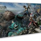 Kingdom Hearts 3 Game Art Attack On Titan 20x16 FRAMED CANVAS Print