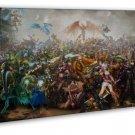 League Of Legends Game Art 20x16 FRAMED CANVAS Print Decor